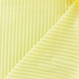 Minkee ribbed velvet fabric - butter x 10cm