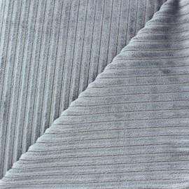 Tissu velours minkee à côtes Beurre x 10cm