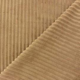 Tissu velours minkee à côtes Chocolat x 10cm