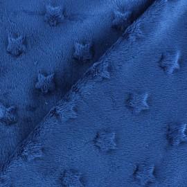 Tissu velours minkee doux relief à étoiles Vert sauge x 10cm