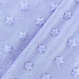 Tissu velours minkee doux relief à étoiles Vert prairie x 10cm