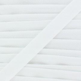 Ruban Sergé couleur blanc