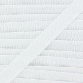 Twill ribbon - white