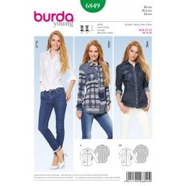 Patron Blouse Burda n°6849