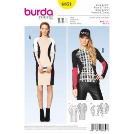 Patron Robe & T-shirt Burda n°6851