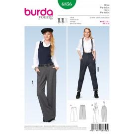Patron Femme Pantalon Burda n°6856