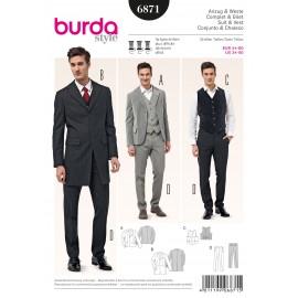 Patron Homme Complet & Gilet Burda n°6871
