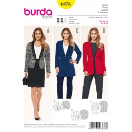 Jacket Sewing Pattern Burda n°6876