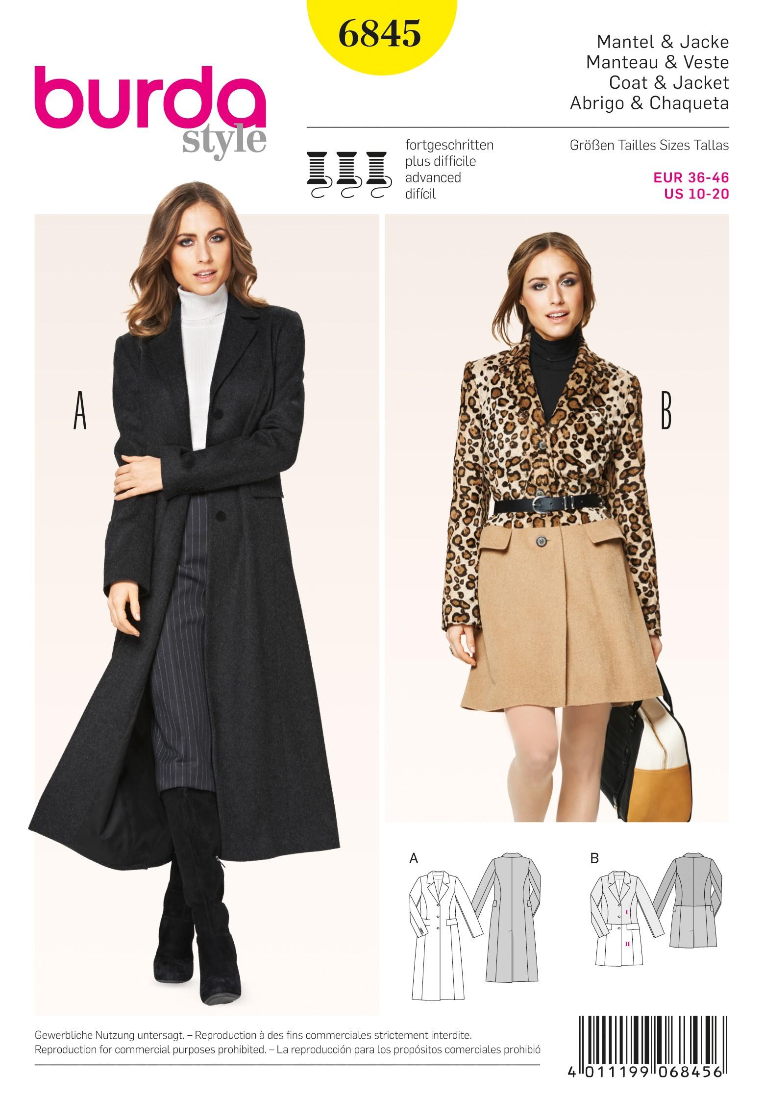 Patron couture manteau femme grande taille