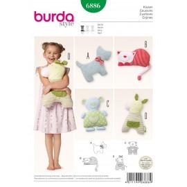 Patron Coussins Burda n°6886