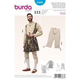 Patron Costume Renaissance Anglaise Burda n°6888