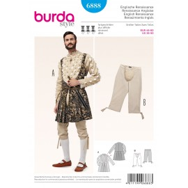 Patron Renaissance Anglaise Burda n°6887