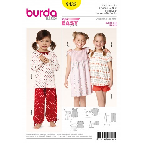 Patron Robe Burda n°9431