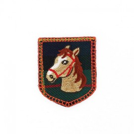 Scottish Horse Coat-of-arms iron-on applique - red