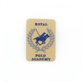 Royal Polo Academy iron-on applique - beige