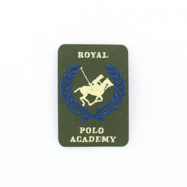 Royal Polo Academy iron-on applique - green