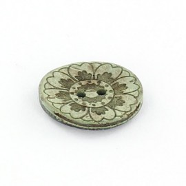 Button, coco Romantic Flower - green