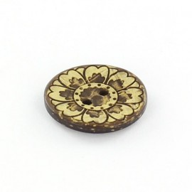 Bouton coco Romantic Flower Jaune