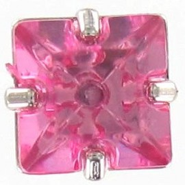 Princess rhinestone button - pink