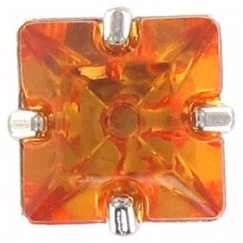 Princess rhinestone button - orange