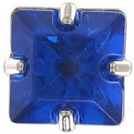 Princess rhinestone button - blue