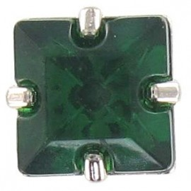 Princess rhinestone button - emerald
