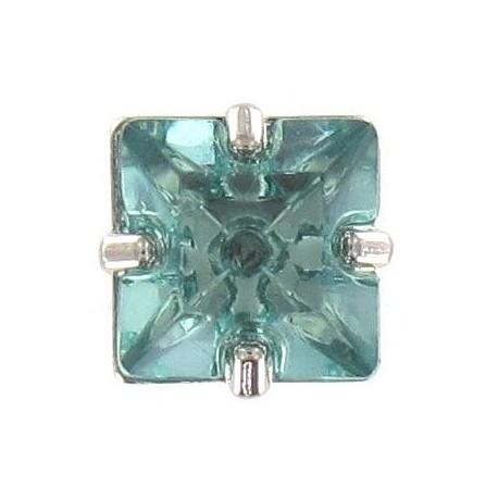 Princess rhinestone button - green
