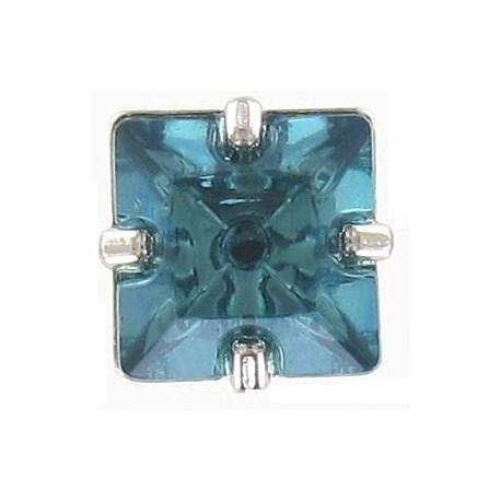 Princess rhinestone button - turquoise