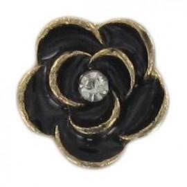 Bouton Métal Rose Noire