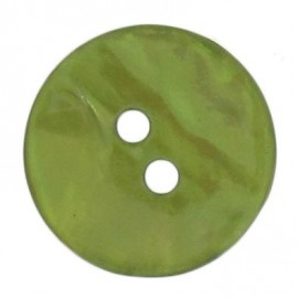 Mother-of-Pearl button, rounded shaped - green