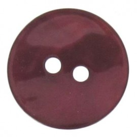 Bouton nacre rond - prune