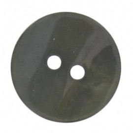 Mother-of-Pearl button, rounded shaped - lovat green