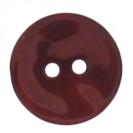 Mother-of-Pearl button, rounded shaped - cherry red