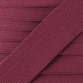 Flat elastic Color - burgundy