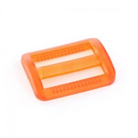 Boucle coulisse plastique transparent orange
