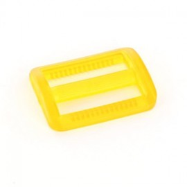 Plastic triglide slide adjuster - yellow transparent