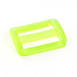 Boucle coulisse plastique transparent vert anis