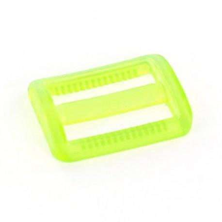 Boucle coulisse plastique transparent jaune