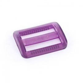 Boucle coulisse plastique transparent violet