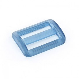 Plastic triglide slide adjuster - blue transparent