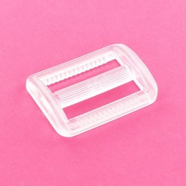 Boucle coulisse plastique transparent
