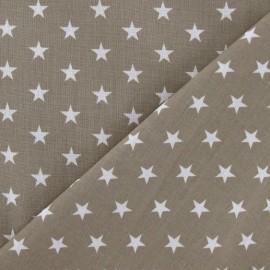 Tissu Etoiles blanc/beige x 10cm