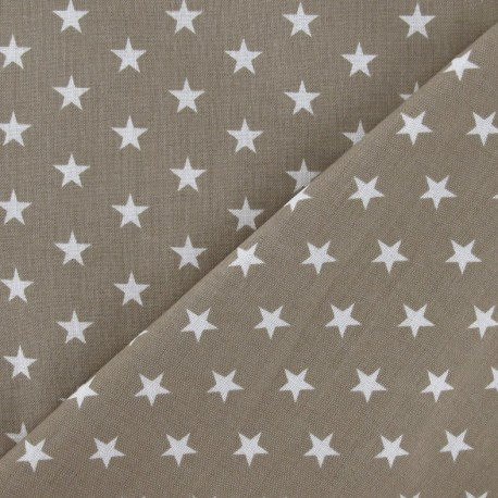 Stars Fabric - White / Beige x 10cm