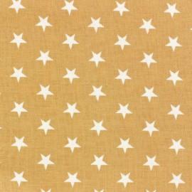 ♥ Coupon 180 cm X 140 cm ♥ Tissu étoiles blanc/ficelle