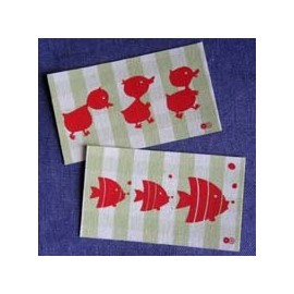 "Fusible patch ""ducks fish"" - green"