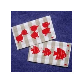 "Fusible patch ""ducks fish"" - grege"