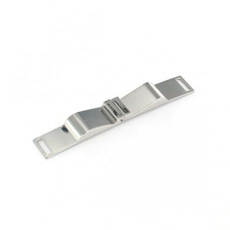 Metal interlocking belt clasp Elysa - nickel-plated