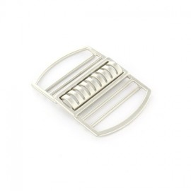 Metal interlocking belt clasp Dhélia – nickel-plated
