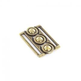 Fermoir ceinture métal Elaia vieil or