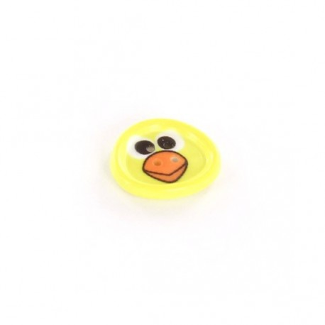 Polyester button, Sbottonati Fun chick - yellow